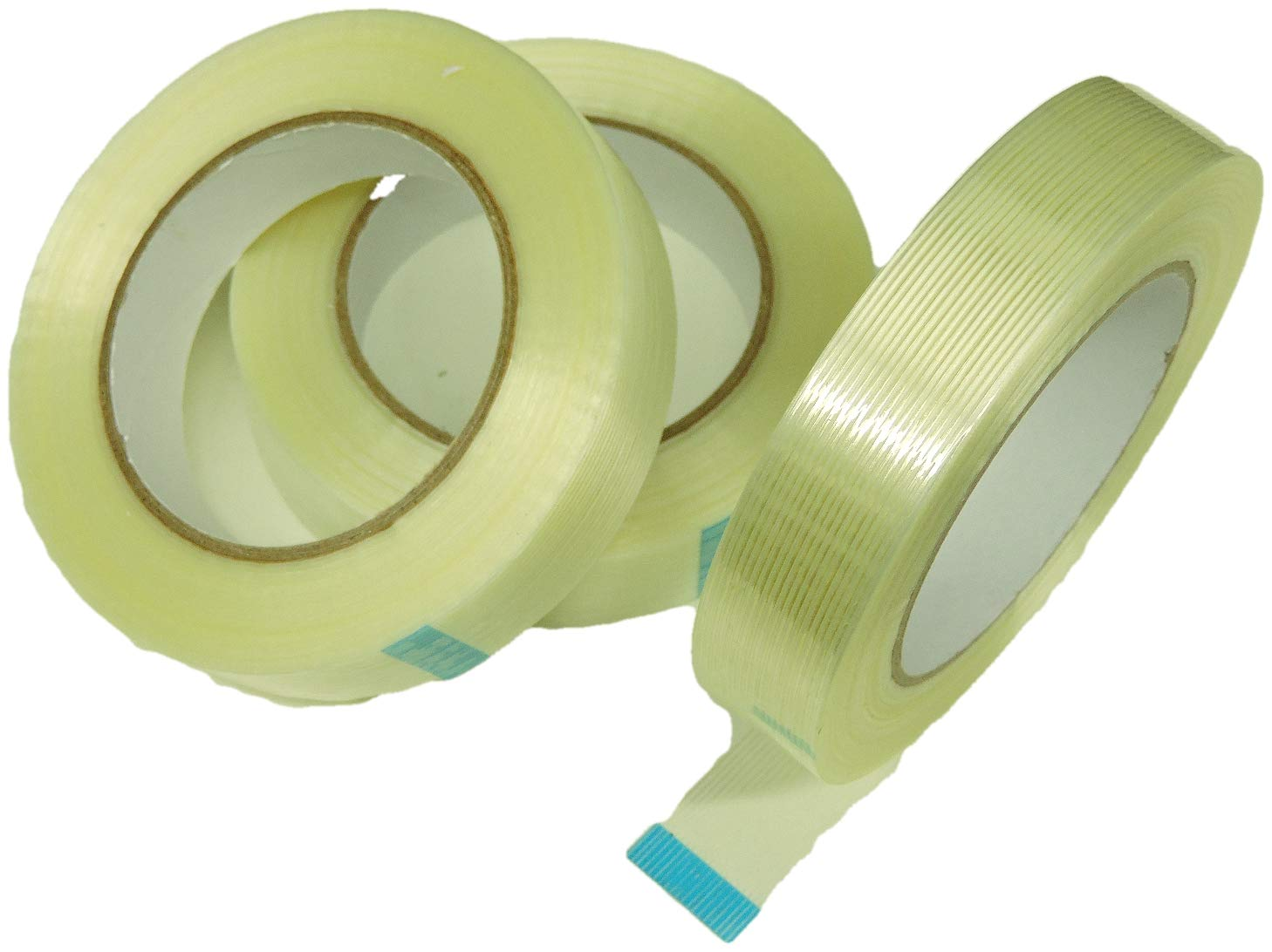 Heavy Duty Packing Tape Filament Reinforced Tape Rolls Clear 4.0 Mil Thick 3//4 Inch x 60 Yards 24 Pack