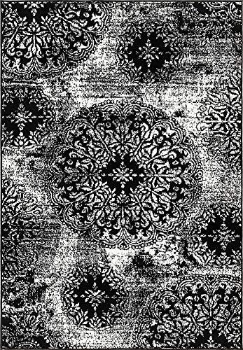 (Unique Loom 3138665 Sofia Collection Traditional Vintage Beige Area Rug, 4' x 6' Rectangle, Black)