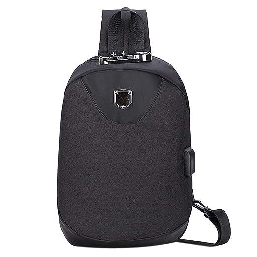 6c8e601ac5cf Amazon.com  Backpack Bag for Men Anti Theft Password Lock Chest Bag Oxford  Cloth Outdoor Shoulder Bag