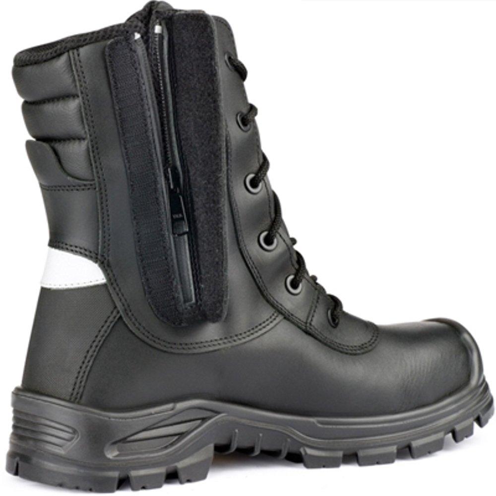 f813b654ba7 Jallatte JALARCHER 00JJV28 Leather Vibram Tactical Safety Hi Work Toecap  Ankle Zip Boots