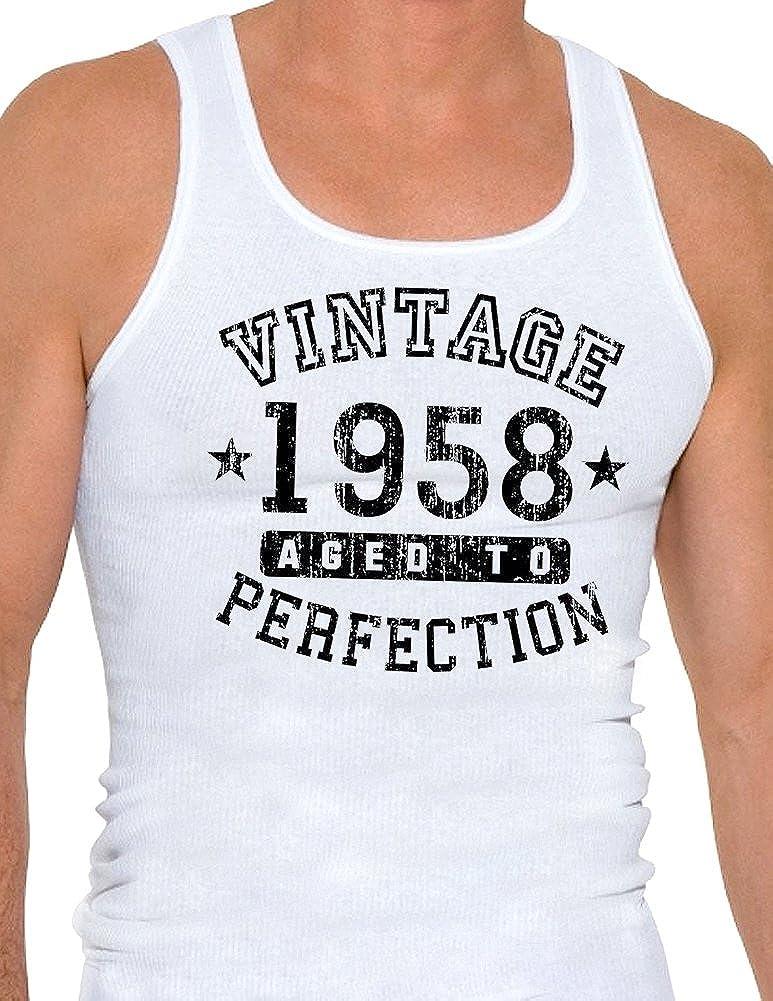 Vintage Birth Year Mens Ribbed Tank Top Brand TooLoud 1958