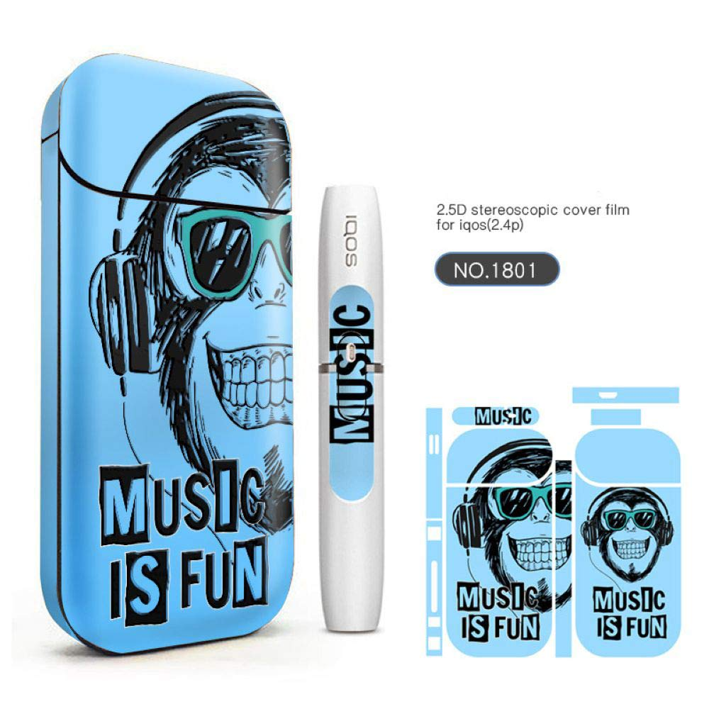 Skin Protection Stickers for IQOS Sticks 2.4 Plus Protective Case Various Pattern 3M Adhesive Skin Cover(1878) Nicotine Free