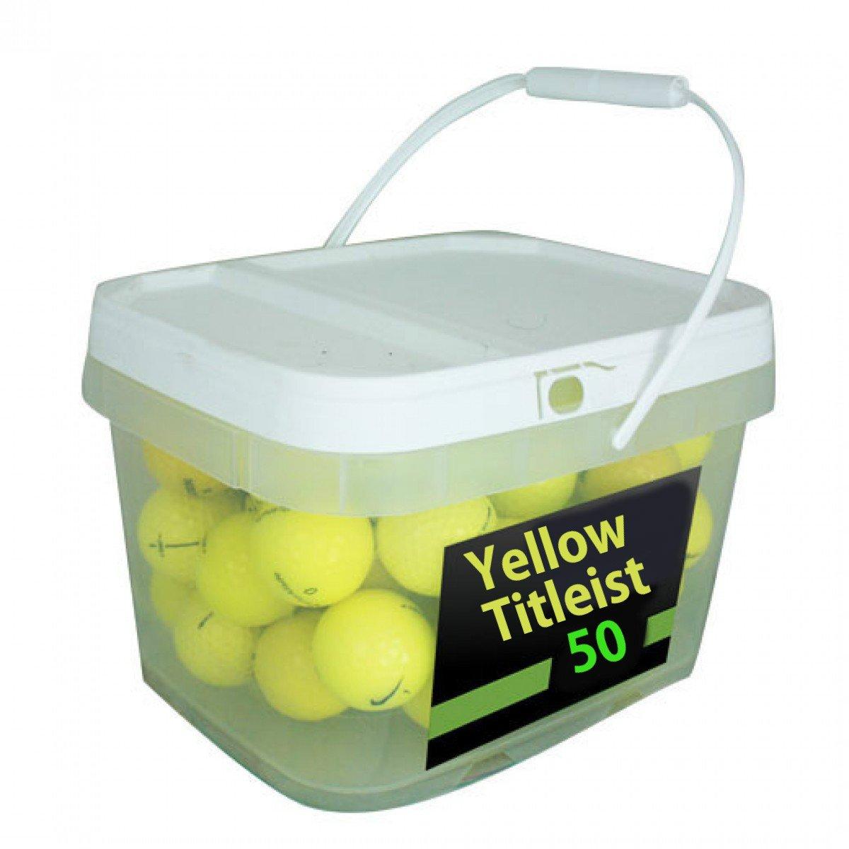 Titleist Yellow Premium Golf Balls (50 Pack)