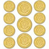 GOLD HERALDIC SHIELD 11-Button (Single Breasted) Sport Coat BLAZER BUTTON SET ~ by MetalBlazerButtons.com