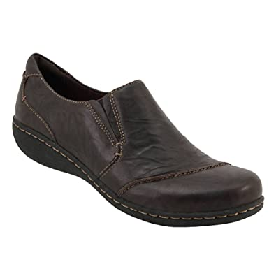 Clarks Womens Fianna Ellie Loafer Brown Leather Size 6.5