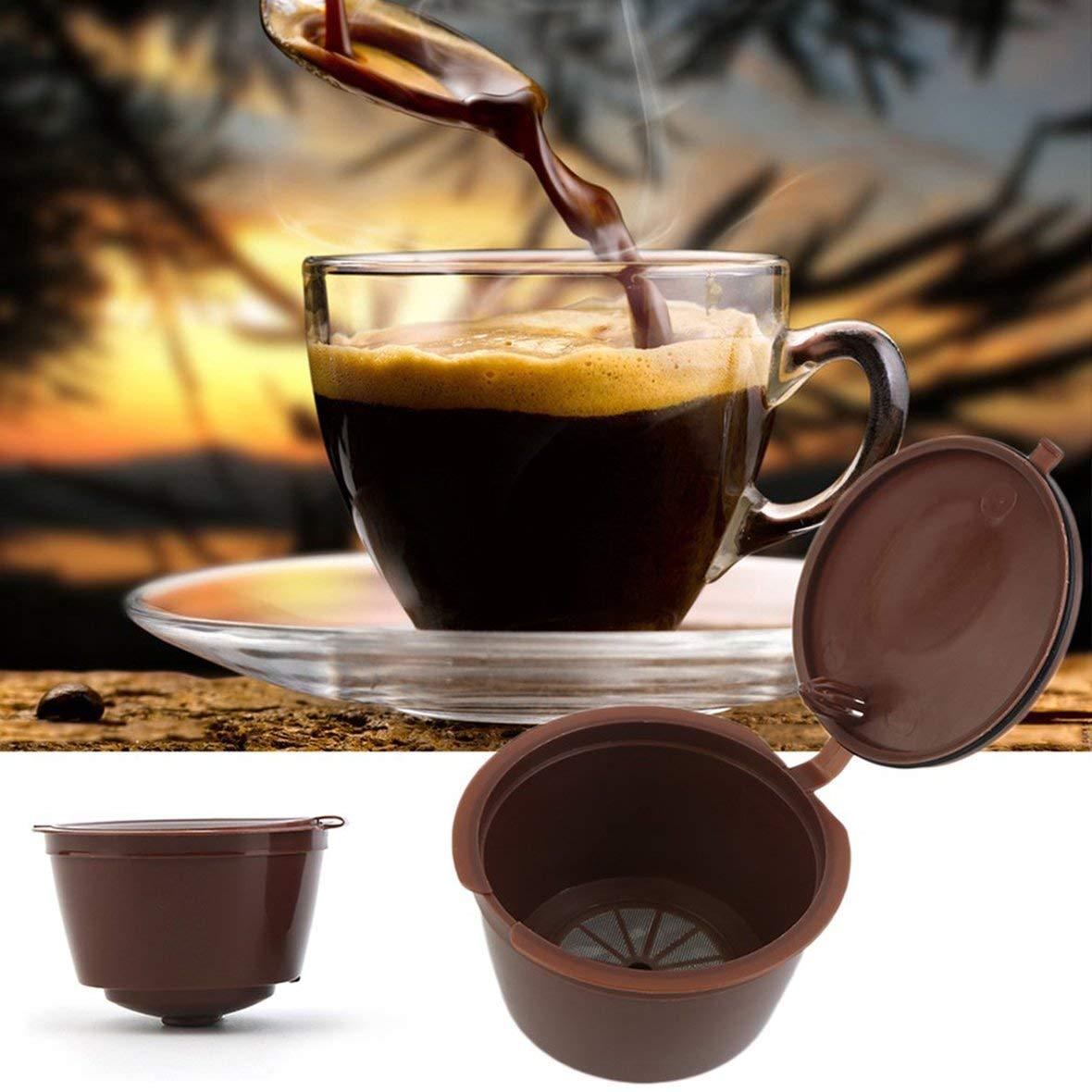 Heaviesk Kaffee Filter Wiederverwendbare Kapsel Kaffee Filter Edelstahl Mesh Kaffee Korb Kaffeemaschine professionelle K/üche Zubeh/ör Filterbecher