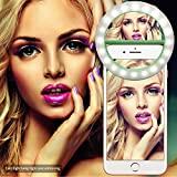 Selfie Ring Light for iPhone,Raphycool Makeup Mirror Light Ring for Camera Video Photography Spotlight Selfie Light W/ Stepless Dimmers for Night or Darkness iPhone 6s 7 Plus Samsung Galaxy S6 S7 Edge