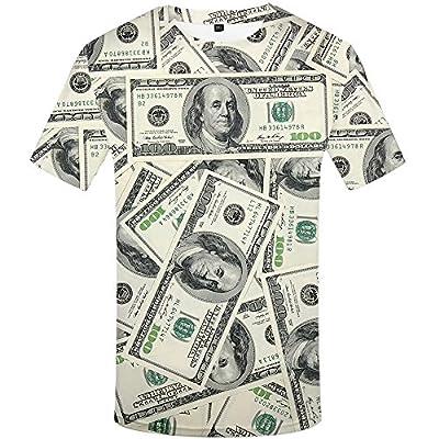KYKU 3D T Shirts for Men Funny Tshirts Pattern Printed T Shirt Short Sleeve Tees
