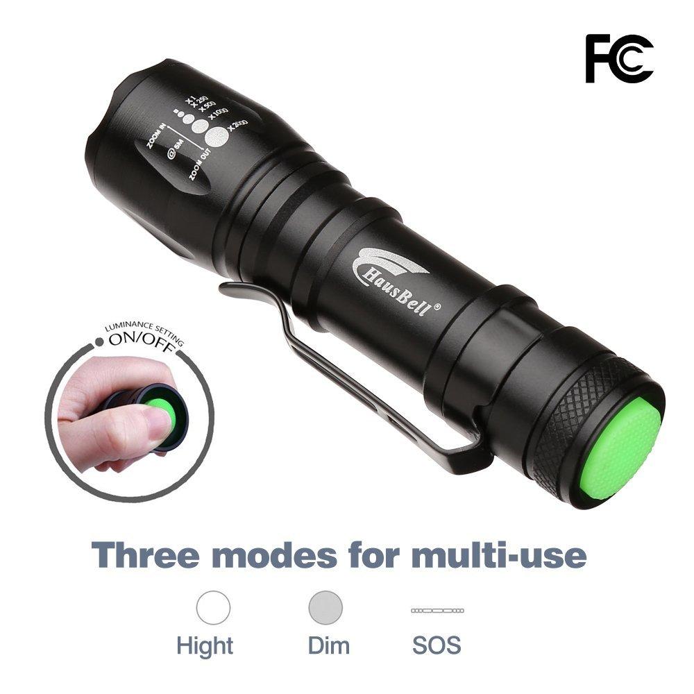 Hausbell Mini LED Flashlight Ultra Bright Handheld Flashlights Small for Kids Child Camping Cycling Hiking Emergency 2 Pack