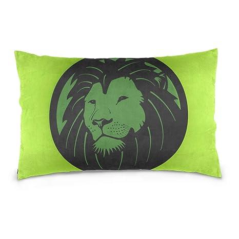 DragonSwordlinsu COOSUN Funda de Almohada de Cabeza de león ...