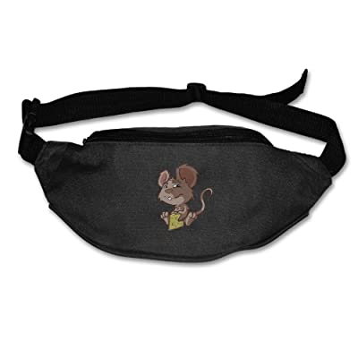 Mouse With Hunk Of Cheese Novelty Portable \r\nCash Men And Women Waist Bag Pack