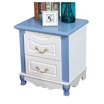 Amazon.com: ZHFHA Painted Bedside Table 2 Drawer White and ...