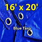 16'x20' Blue Multi-purpose 6ml Waterproof Poly Tarp Cover with Tent Shelter Camping Tarpaulin By Prime Tarps