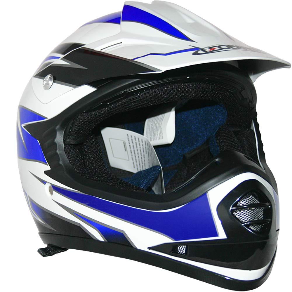 Red XL 55cm - Children Cub Dirt Quad Bike MX Motorbike Helmet Leopard LEO-X16 Kids Motocross HELMET /& GOGGLES