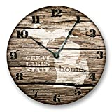 MICHIGAN STATE HOMELAND CLOCK -GREAT LAKES HOME STATE – Large 10.5″ Wall Clock – Printed Wood Image- MI_FT Review