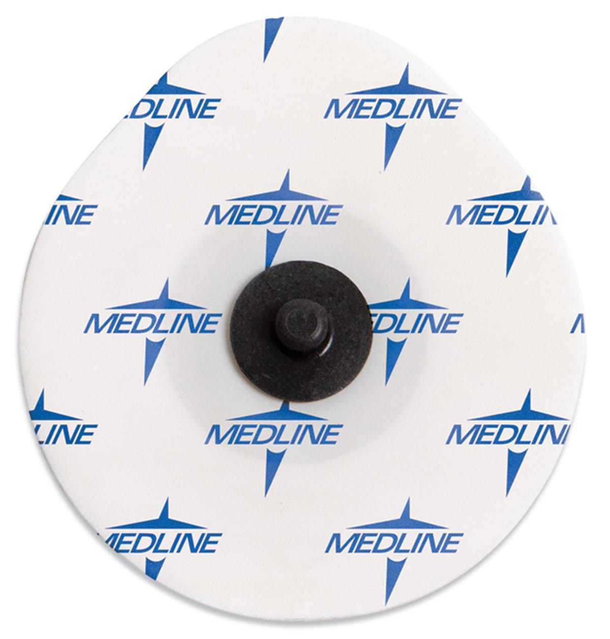 Medline MDSM611703R MedGel Radiotranslucent Stress / Diaphoretic Foam Electrode, White (Case of 3600)