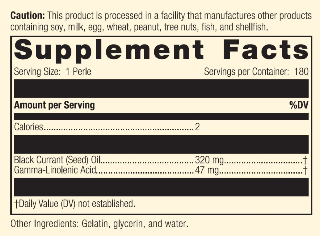 Standard Process - Black Currant Seed Oil - Gamma-Linoleic Acid Supplement, Supports Healthy Skin, Normal Blood Flow, Tissue Repair, and Immune System Function, Gluten Free - 180 Perles by Standard Process (Image #4)