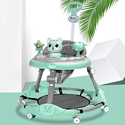 Olz Baby Walker 6-Speed Adjustment Multi-Function Anti-Rollover Anti-O-Legs Men and Women Toddler Walker Range 7-18 Months Boys and Girls,Green: Sports & Outdoors