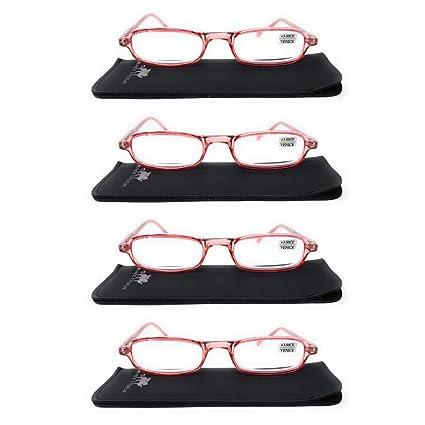 Gafas de lectura Venice de pasta rosa, graduadas OFERTA con ...