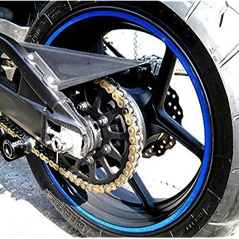 Amazon Com Calibikerclub Blue Reflective Wheel Rim Stripe