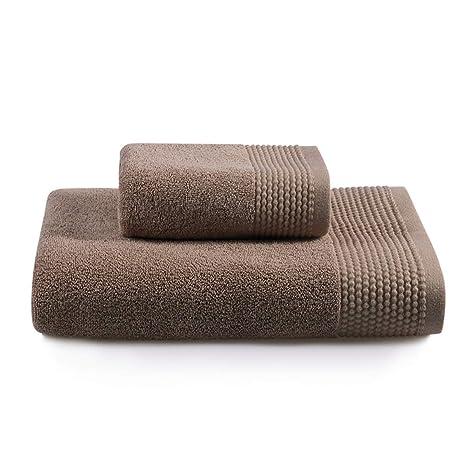 Muzi Trade Juego de Toallas de baño en Toalla de algodón con Dos Suaves y absorbentes