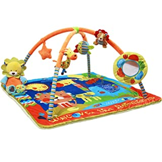Tappetini per Neonati Tropical Rainforest Deluxe Gym Baby Play Tappetini a Terra in scienze - Educational Playtime con Uno Scopo