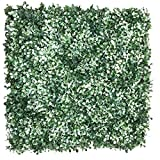 Artificial Hedge Plant Privacy Fence Screen , Suitable for Both Outdoor or Indoor , Garden, Backyard , Boxwood with 2 Tones Colors 20 x 20 Inch (1PC Sample) For Sale