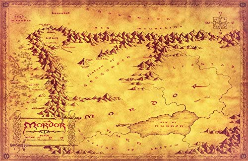 Amazon.com: NLopezArt Mordor Map from The Lord of the Rings and