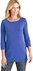 Chico's Women's Button-Sleeve Tunic Top