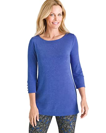 275867858814a Chico s Women s Button-Sleeve Tunic Top at Amazon Women s Clothing ...
