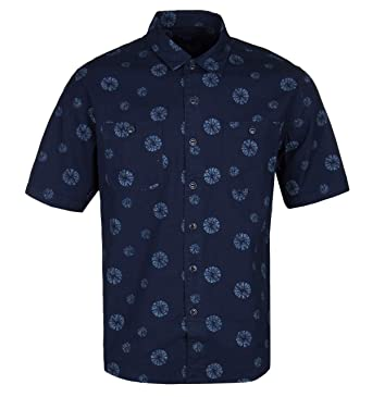 Edwin Red Floral Rayon Short Sleeve Garage Shirt