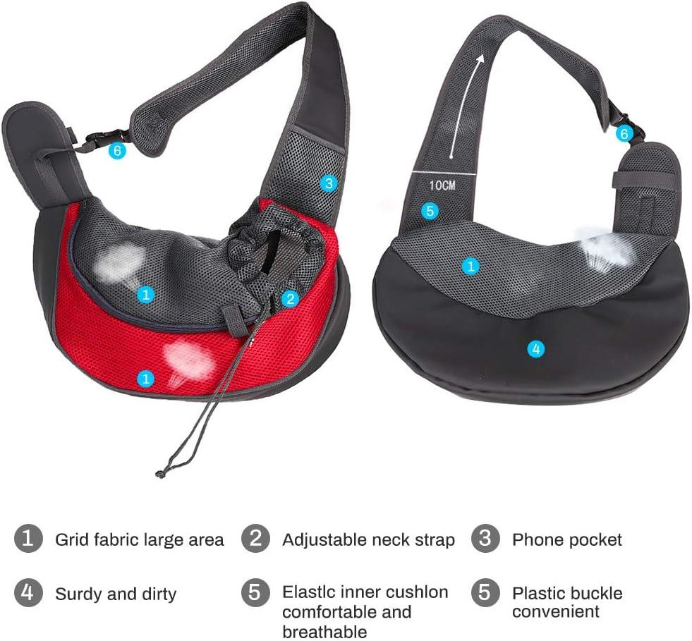 Zwini caminar en metro Bolsa de transporte para mascotas con bolsa de malla transpirable para viajes al aire libre