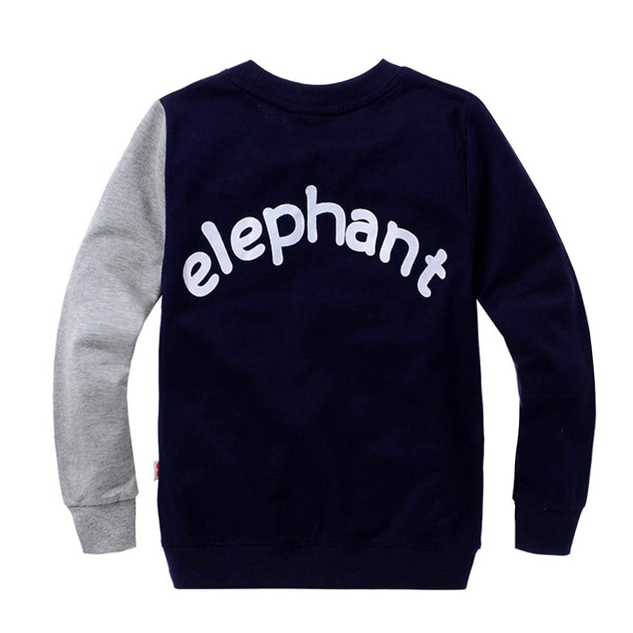 LitBud Little Boys Jumpers Kids Elephant Sweaters Sweatshirt Pullover Casual Shirt Tops
