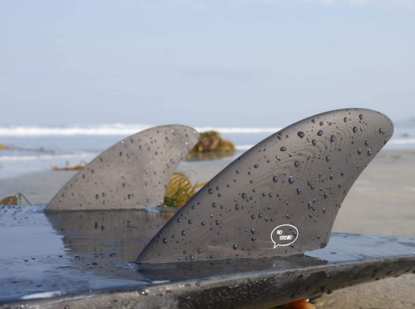 Ho Stevie! Surfboard Twin Fins, Keel Fins (2 Finnen)