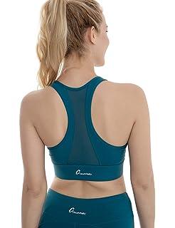 1c78ef4711f4a Amazon.com  Women s Yoga Tops Workouts Tanks Criss Cross Back Candy ...