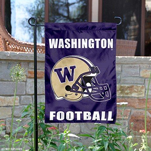Washington Huskies Football Helmet Garden Flag