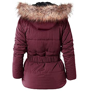 Pepe Jeans Mujer Parka Chaqueta de invierno con capucha Rojo Granate Talla M: Amazon.es: Deportes y aire libre
