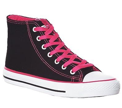 7018586bbac0 High Top Canvas Women Sneakers (5