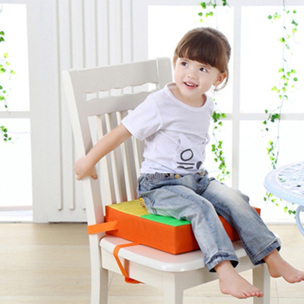 Orange Taille Unique Oxford Cloth Kids Dining Chair Booster Cushion Baby Children Seats