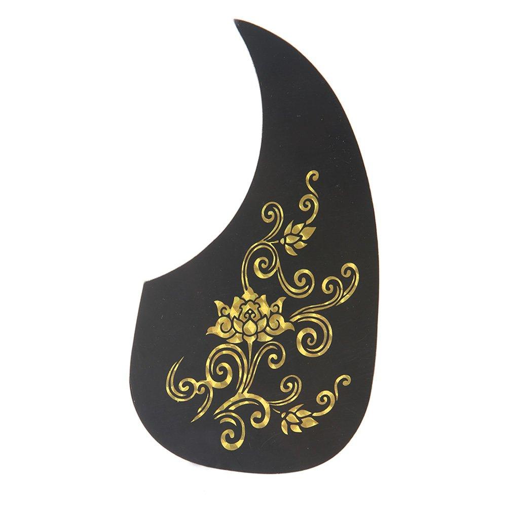 ULKEME Acoustic Guitar Pickguard Phoenix/ Dragon/ Flower Scratch Plate Pick Guard Gift 5