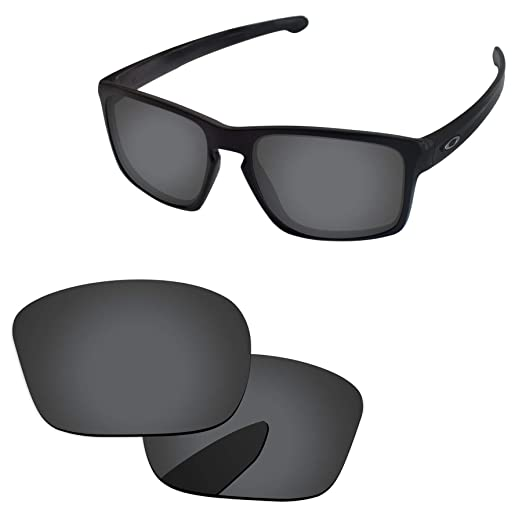 a04c340bd0 Amazon.com  PapaViva Lenses Replacement for Oakley Sliver Black Grey ...