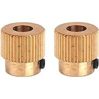 Gazechimp 2x Pignon Extrudeur 40 Dents Arbre d'Entraînement 5mm Accs pr Imprimante 3D 1.75mm Filament