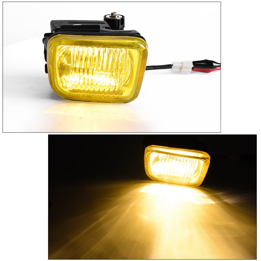 Fog Lights For Honda Civic 1996 1997 1998 2 Door Coupe 4 Wiring Harness Sedan Real Glass Yellow Lens W Switch H3 Halogen 12v 55w Bulbs