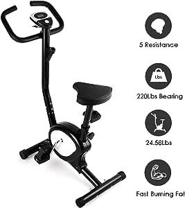 AGM Bicicleta Estáticas, Bicicleta de Entrenamiento de Fitness ...
