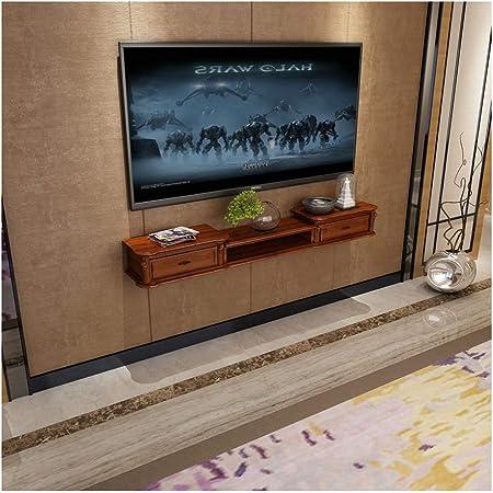 Armario de cajones flotantes Decodificador montado en la pared Consola Sala de estar TV de pared