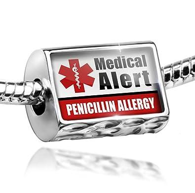Amazon.com: Charm Medical Alert Red Penicillin Allergy - Bead Fit ...