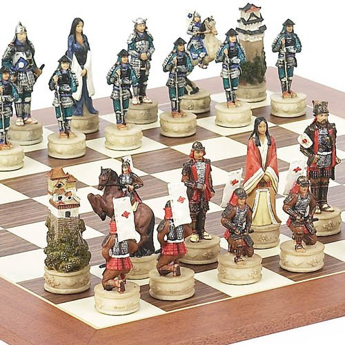 Japanese Themed Costumes (Japanese Samurai Chessmen & Stuyvesant Street Chess Board from Spain)