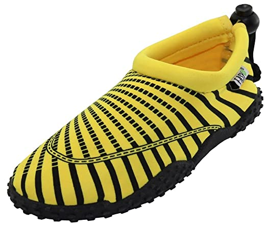 Womens Water Shoes Aqua Socks Pool Beach Yoga Dance and Exercise 1177 Yellow