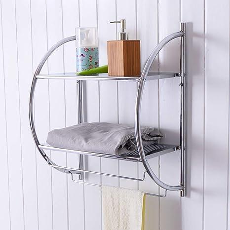 Amazon.com: tangkula 2-tier estante con toallero de barra ...