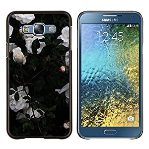 LECELL--Funda protectora / Cubierta / Piel For Samsung Galaxy E7 E700 -- Rosas de jardín Bush Flores --
